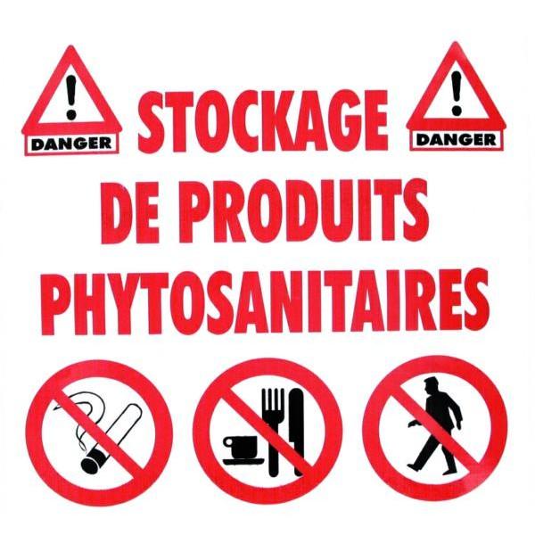 Autocollant stockage de produits phytosanitaires